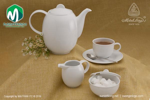 bộ trà gốm sứ minh long cao cấp