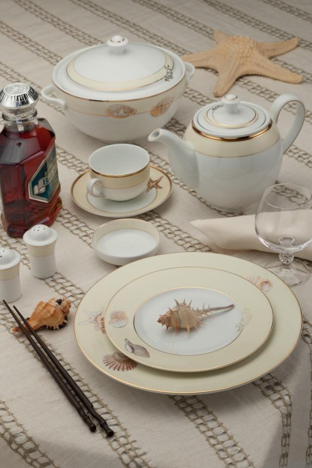 Bộ bàn ăn Gốm sứ Minh Long Camellia hương biển kem