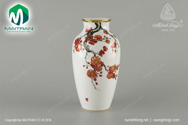 Bình hoa gốm sứ Minh Long Hoa Đào