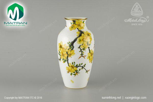 Bình hoa gốm sứ Minh Long Hoa Mai