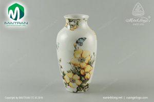 Bình hoa gốm sứ Minh Long Kiêu Sa