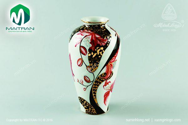 Bình hoa gốm sứ Minh Long Hoa Lan Cách Điệu