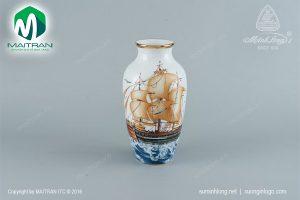 Bình hoa gốm sứ Minh Long Thuận Buồm