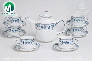 Bộ trà gốm sứ Minh Long Jasmine Tứ Quý 1.1L