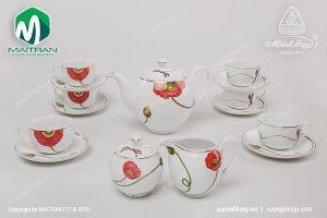 Bộ trà gốm sứ Minh Long Kết Duyên 1.1L