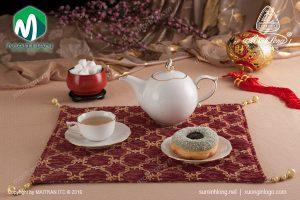 Bộ trà gốm sứ Minh Long Mẫu Đơn IFP viền chỉ vàng 0.7L