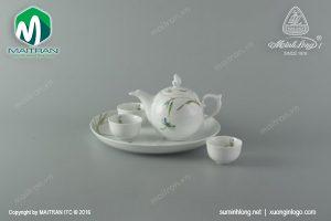 Bộ trà gốm sứ Minh Long Thanh Trúc 0.3L