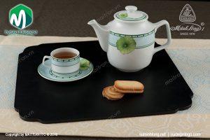 Bộ trà gốm sứ Minh Long Jasmine Tích Tuyết Thảo 0.7L