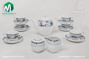 Bộ trà gốm sứ Minh Long Tứ Linh 1.1L