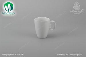 Ca gốm sứ Minh Long oval trắng 0.25L