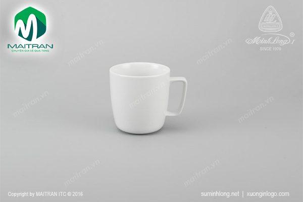 Ca gốm sứ Minh Long Jasmine trắng 0.38L