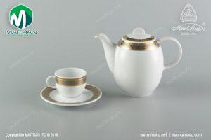 Bộ trà gốm sứ Minh Long Sago Hoa Hồng 0.8L