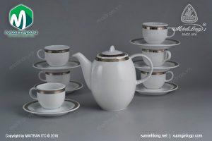 Bộ trà gốm sứ Minh Long Thiên Tuế 0.8L