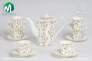 Bộ trà gốm sứ Minh Long Awakening 0.8L