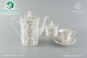 Bộ trà gốm sứ Minh Long Awakening 1.25L