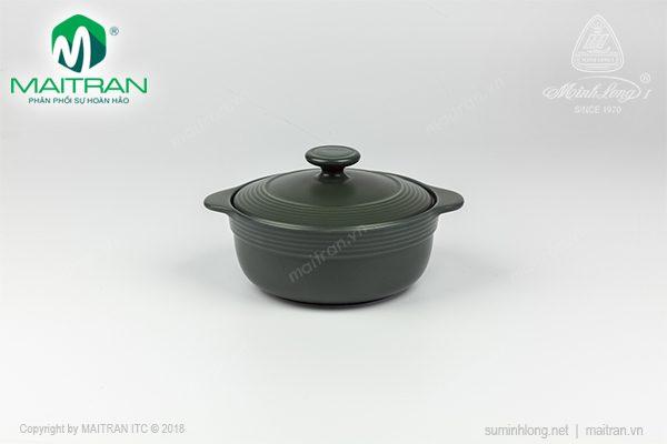 Nồi sứ dưỡng sinh hai quai 0.65L Minh Long