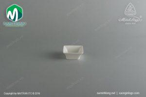 Chén chấm 7 cm vuông