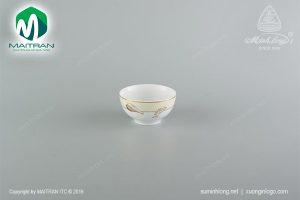 chén cơm gốm sứ minh long 12 cm hương biển kem