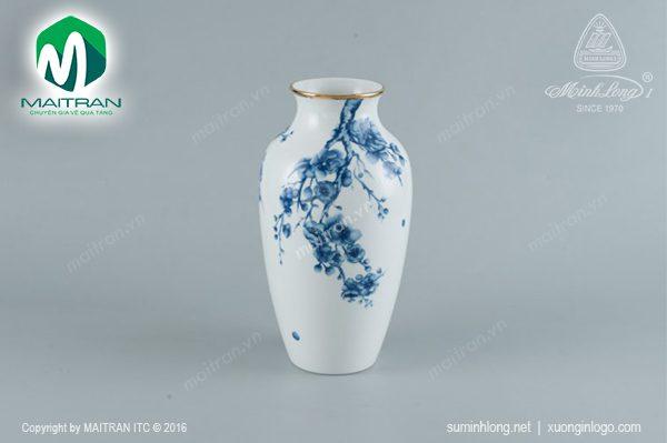 bình hoa gốm sứ minh long đào cobalt