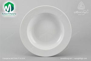 dĩa súp gốm sứ minh long 23 cm trắng jas