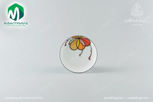 dĩa tròn ảo gốm sứ minh long 26 cm bóng bay