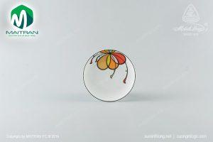 dĩa tròn ảo gốm sứ minh long 22 cm bóng bay