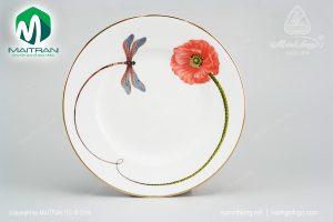 dĩa tròn gốm sứ minh long 27 cm kết duyên
