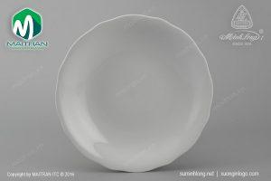 dĩa tròn gốm sứ minh long 20 cm mẫu đơn