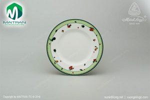 dĩa tròn gốm sứ minh long 27 cm quả ngọt