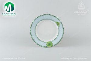 dĩa tròn gốm sứ minh long 25 cm tích tuyết thảo