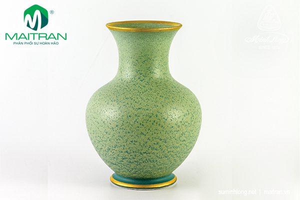 Bình hoa gốm sứ Minh Long Hỏa Biến 22 cm