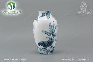 Bình hoa gốm sứ Minh Long Hạnh Phúc 27 cm