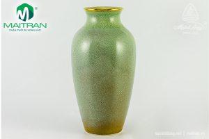 Bình hoa gốm sứ Minh Long Hỏa Biến 27 cm Vân Ngọc 5 chỉ vàng