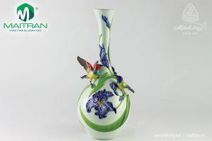 Bình hoa gốm sứ Minh Long Diên Vỹ 40 cm