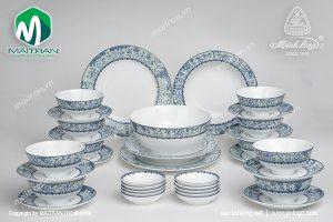 Bộ bàn ăn gốm sứ Minh Long 35 sp Jasmine Vinh Quy Nhạt