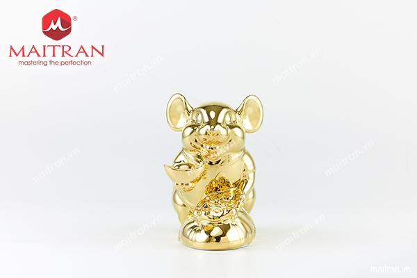 tượng gốm sứ chuột phú dát vàng