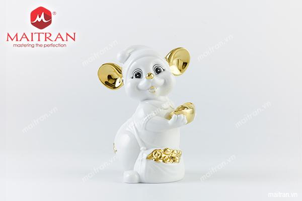 tượng gốm sứ chuột quý